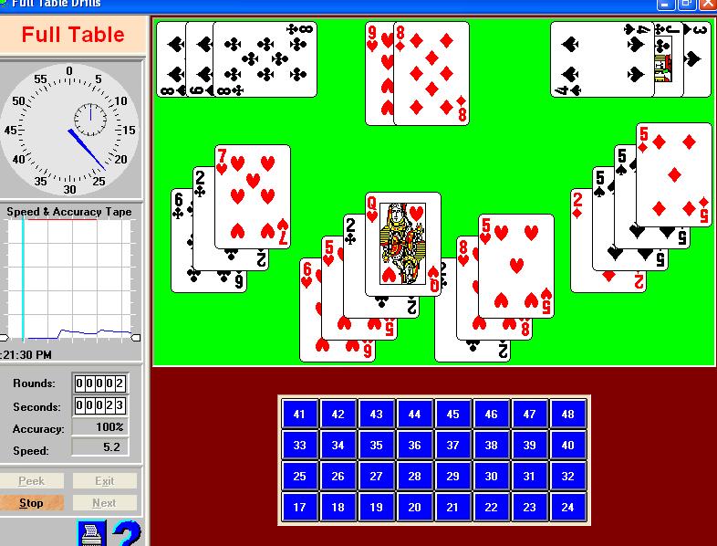 blackjack card counting practice program