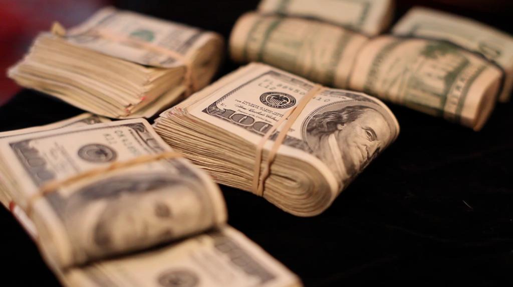 wads of cash