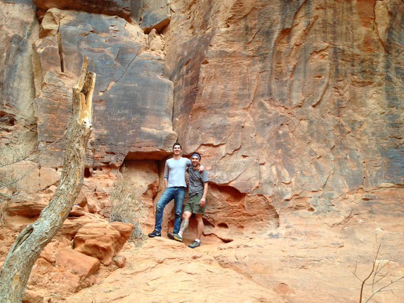 colin and ben at snow canyon