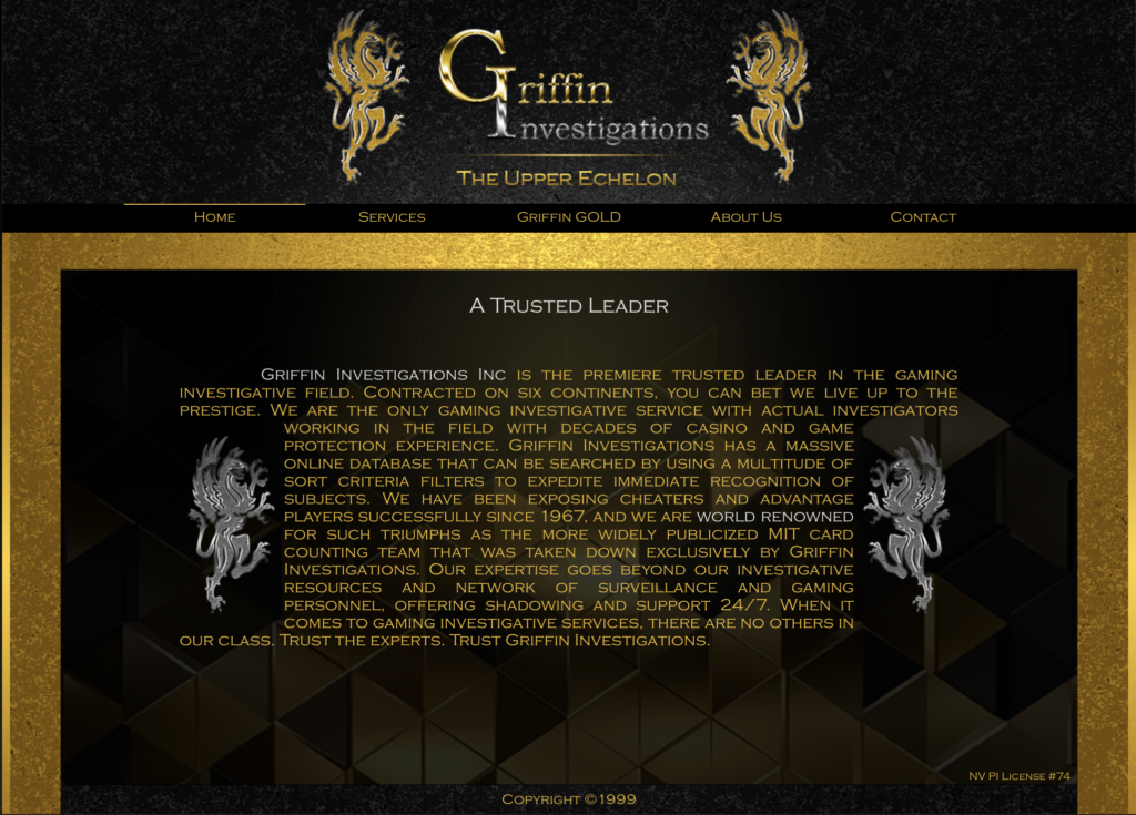 Buku Griffin dan Pengawasan Kasino