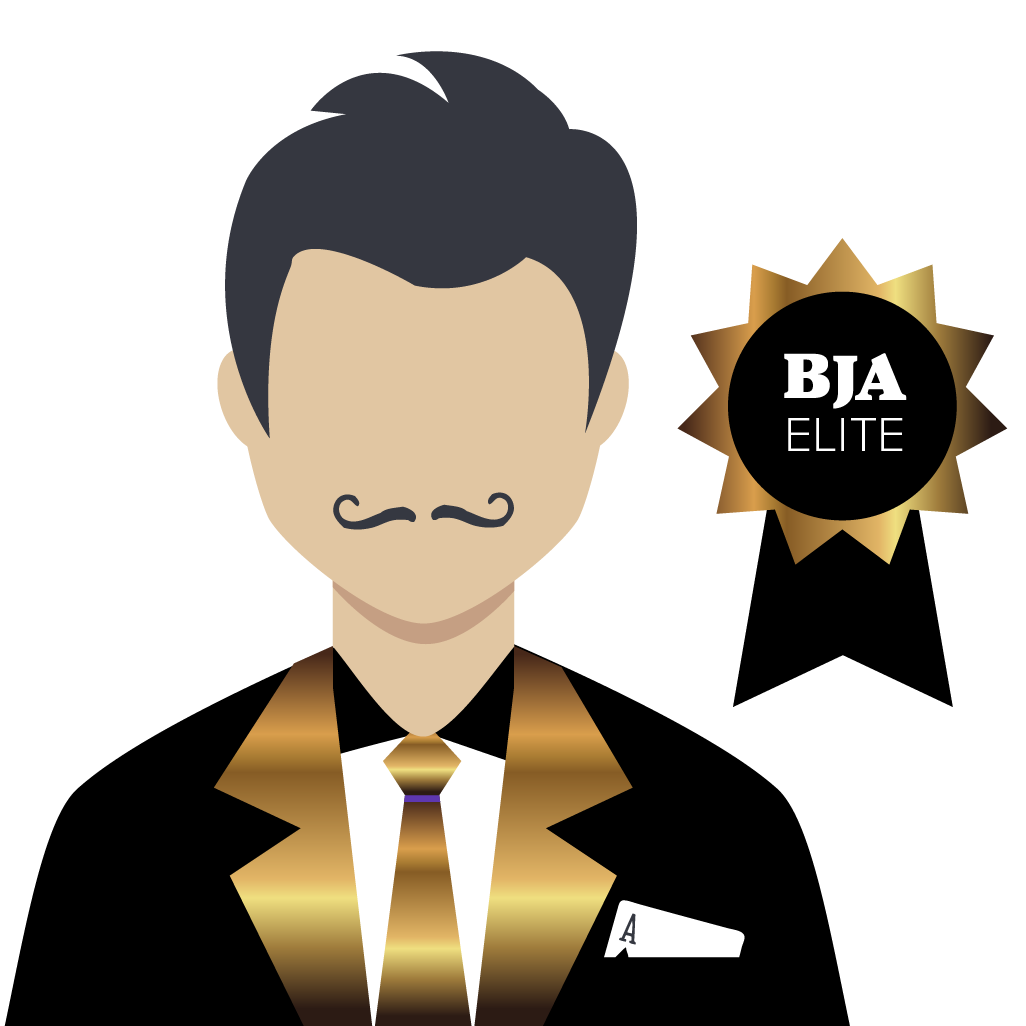 Blackjack Master Elite Logo Mustache
