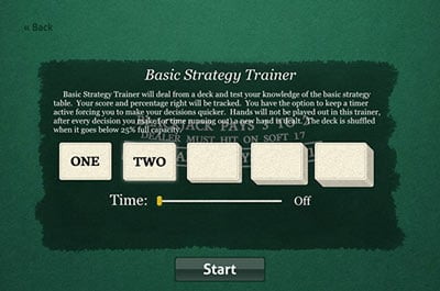 Basic Strategy Drill Screenshot