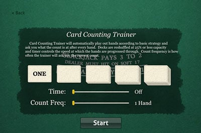 Card Counting Drill Screenshot