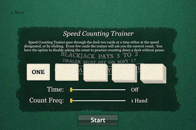Speed Card Counting Trainer Drill