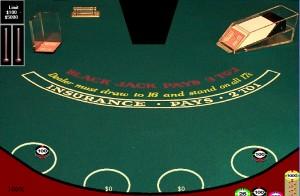 Blackjack Table Empty Shoe