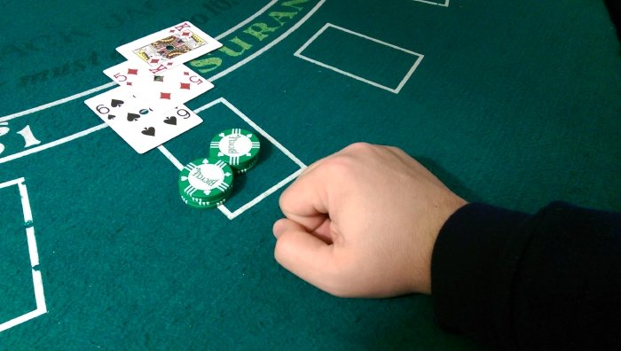 hand after doubling