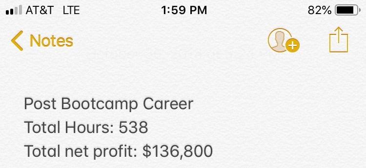 JCRox111 Post Bootcamp Career Numbers 2