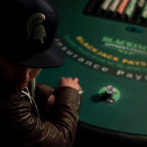 BJA Spartan playing Blackjack at table