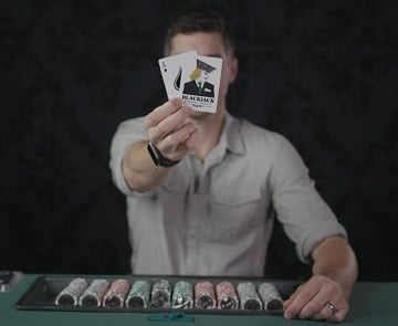Colin Jones Blackjack Cards Covering Face